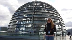 Magda na tarasie Reichstagu