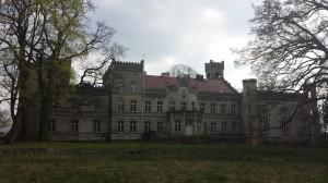 Pałac w Gościeszynie  od tyłu
