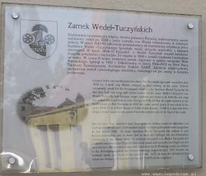 Tablica przed zamkiem