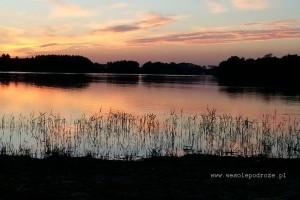 Zachód słońca nad Gopłem